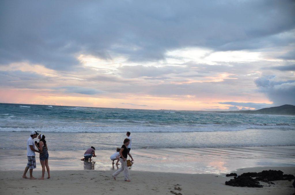 ガラパゴス諸島の夕焼け
