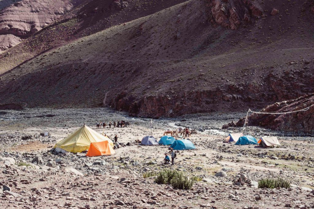 高地登山のテント泊