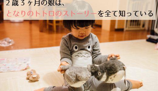 2歳3ヶ月の娘は「となりのトトロ」のストーリーを全て知っている