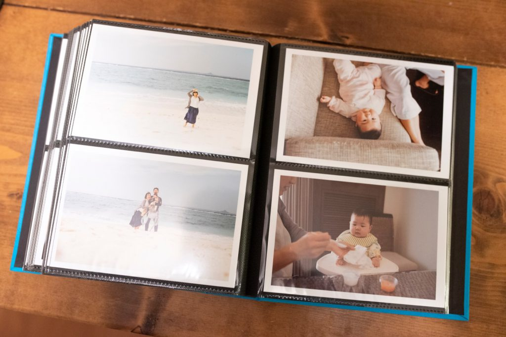 写真をプリントしてアルバムに綴じ込む