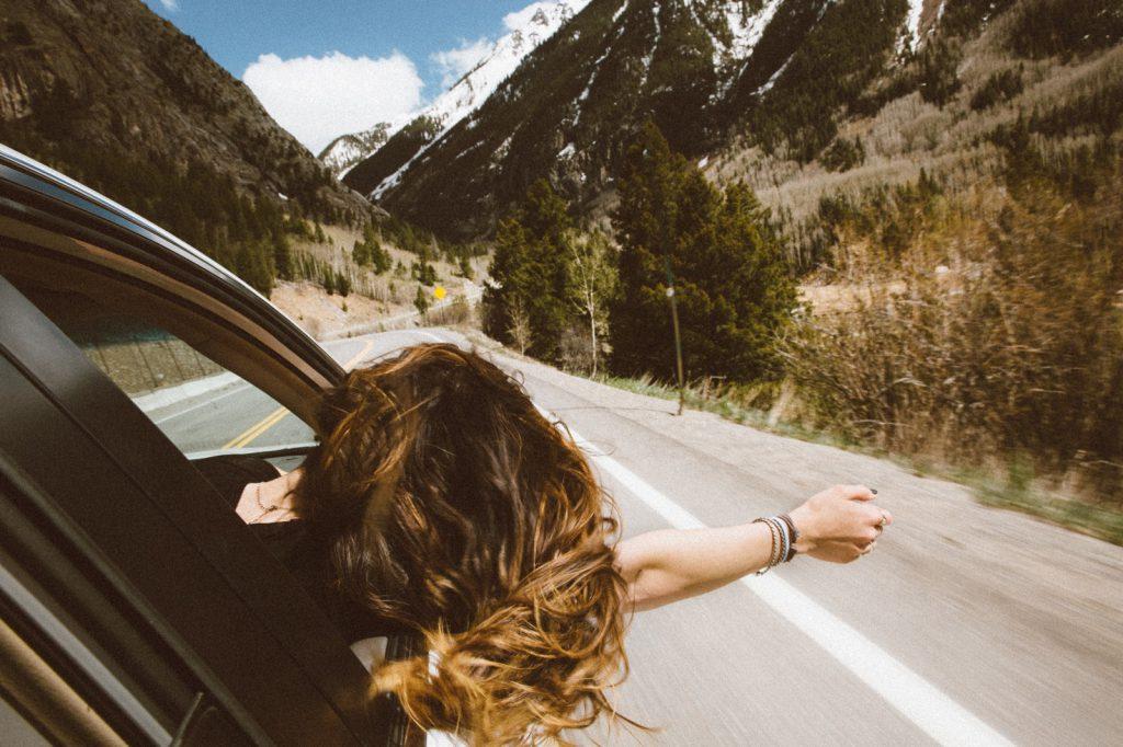 旅先のドライブ