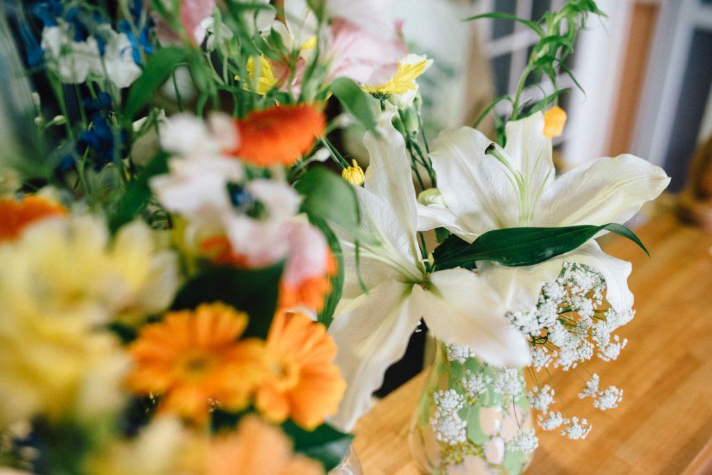 たくさんの花束