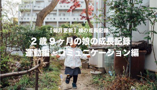 2歳9ヶ月の娘の成長記録(運動編・コミュニケーション編)