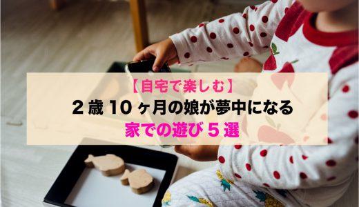 【自宅で楽しむ】2歳10ヶ月の娘が夢中になる「家での遊び5選」