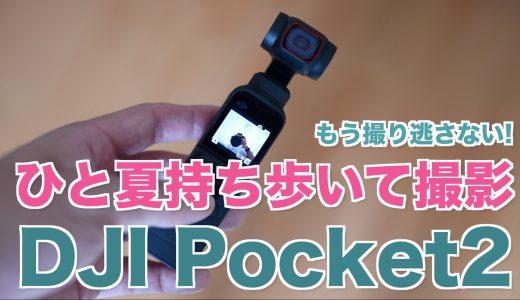 身近な動画撮影をしたければ、DJI POCKET2がベスト!【DJI POCKET2をひと夏持ち歩いて映像作った】
